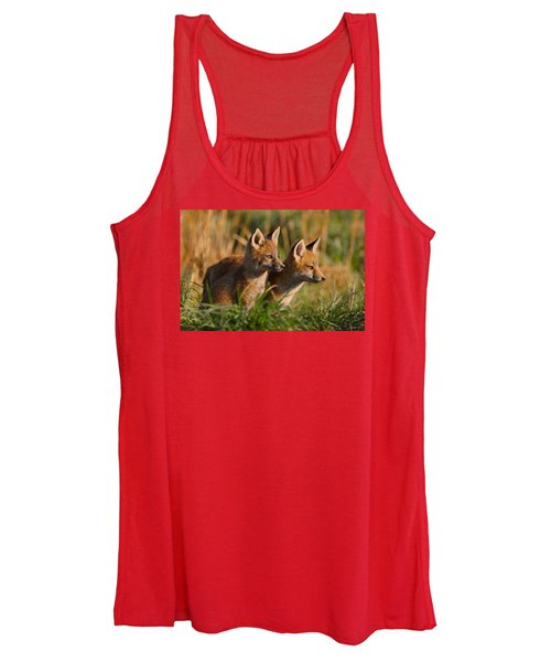 Fox Cubs At Sunrise Women's Tank Top