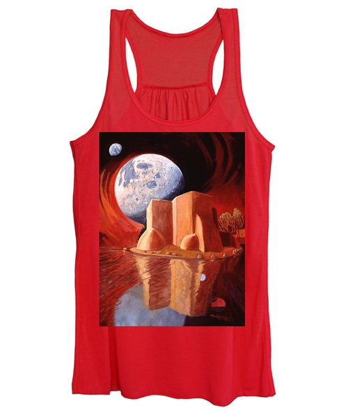 God Is In The Moon Women's Tank Top