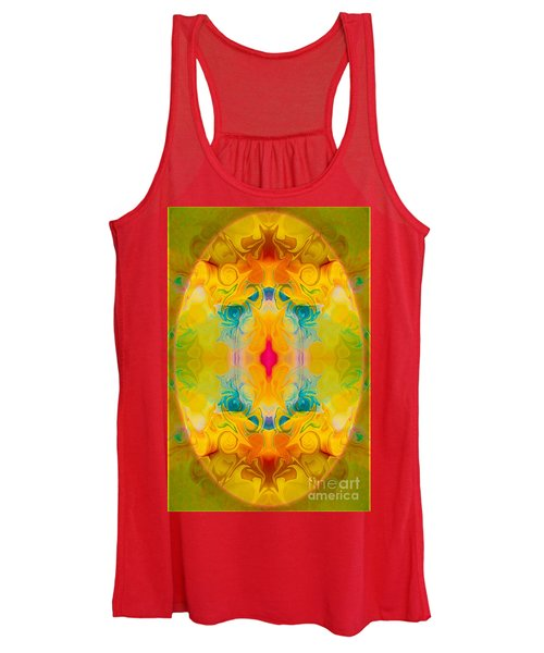 Heavenly Bliss Abstract Healing Artwork By Omaste Witkowski  Women's Tank Top