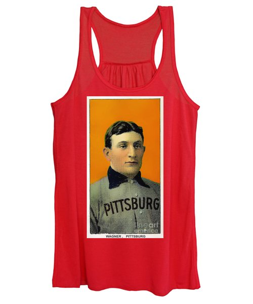 Honus Wagner Baseball Card 0838 Women's Tank Top
