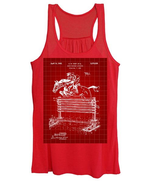 Horse Jump Patent 1939 - Red Women's Tank Top