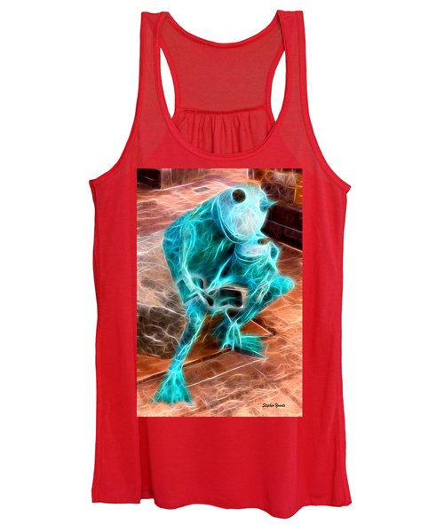 Howard County Library - Miller Branch - Reading Frogs Women's Tank Top
