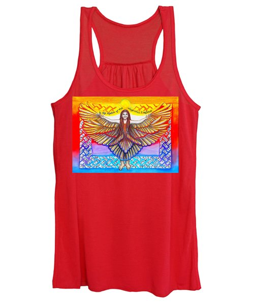 In The Shadow Of Thy Wings Psalms Women's Tank Top