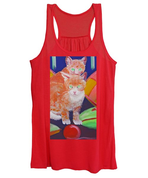 kittens With A Ball of Wool Women's Tank Top