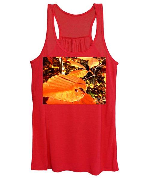 Ladybug At Fall Women's Tank Top
