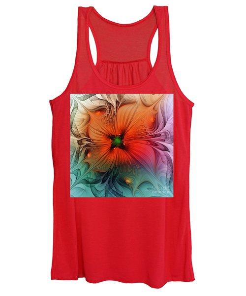 Luxury Blossom Dressed In Velvet And Silk Women's Tank Top