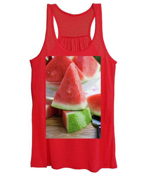 Many Pieces Of Watermelon Women's Tank Top