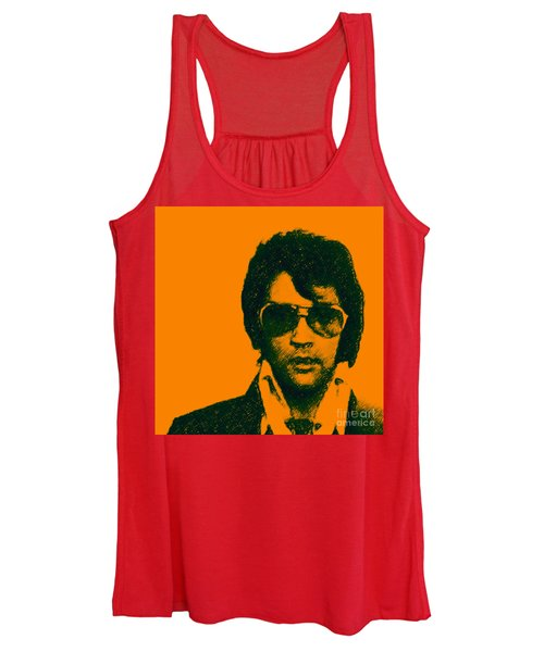 Mugshot Elvis Presley Square Women's Tank Top