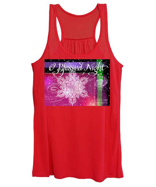O Blessed Night Greeting Women's Tank Top