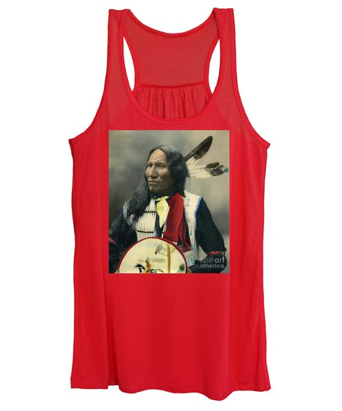 Oglala Chief Strikes With Nose 1899 Women's Tank Top