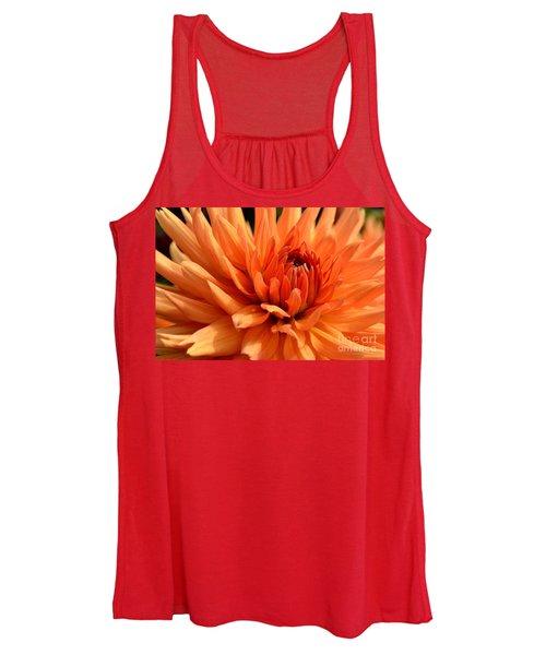 Orange Dahlia Women's Tank Top