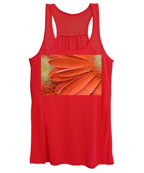 Orange Gerber Daisy Painting Women's Tank Top