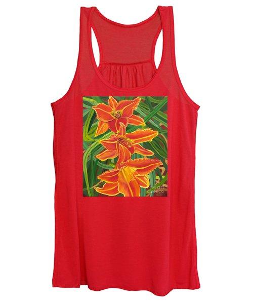 Orange Lilies Women's Tank Top
