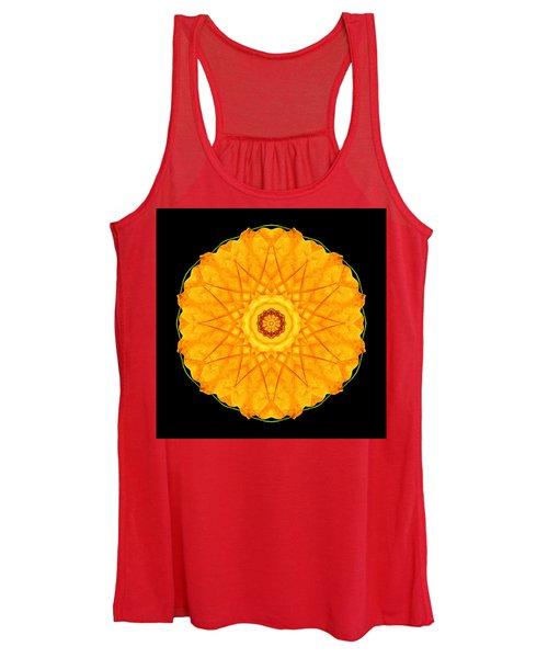 Orange Nasturtium Flower Mandala Women's Tank Top