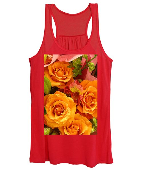 Orange Roses Women's Tank Top