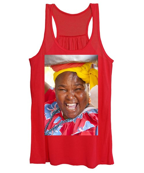 Palenquera In Cartagena Colombia Women's Tank Top