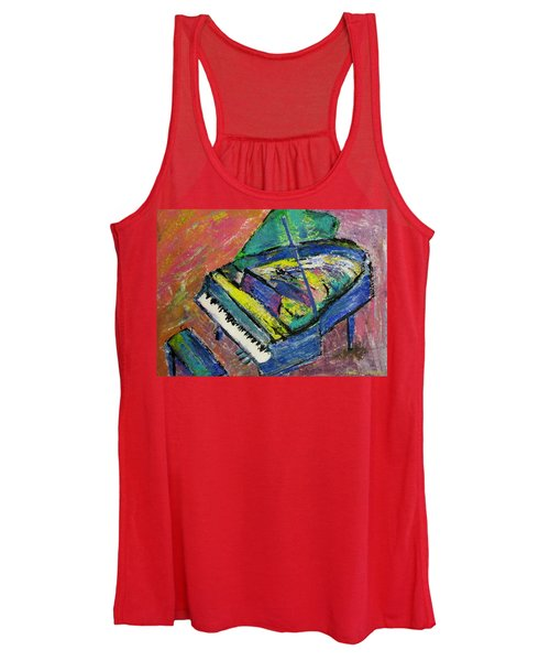 Piano Blue Women's Tank Top