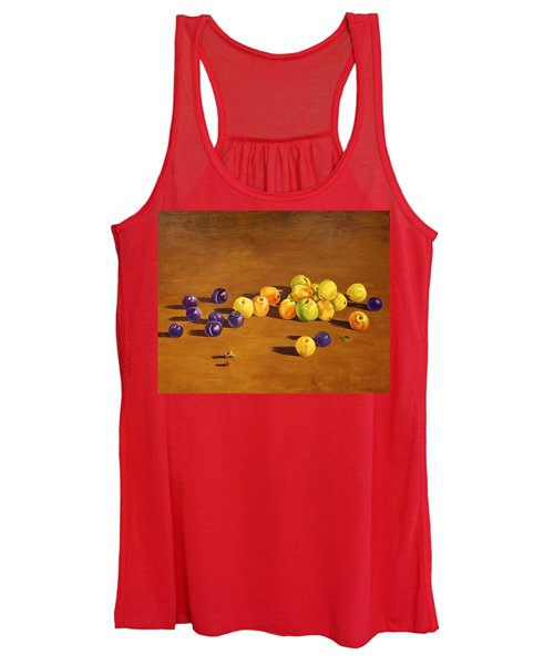 Plums And Apples Still Life Women's Tank Top