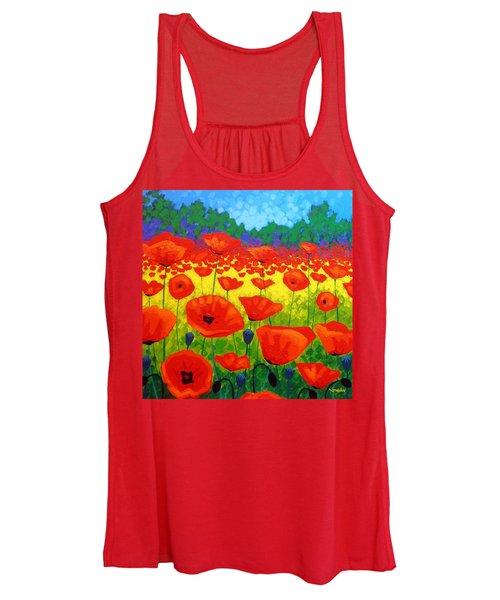 Poppy Field V Women's Tank Top