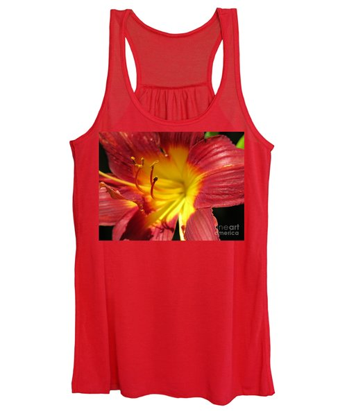 Red And Yellow Day Lily Women's Tank Top