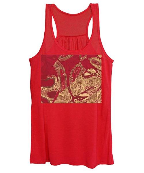 Red Geranium Abstract Women's Tank Top