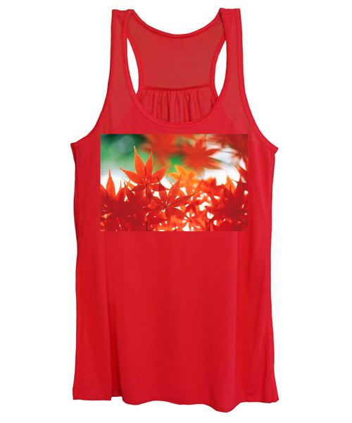 Red Maple Leaves Women's Tank Top