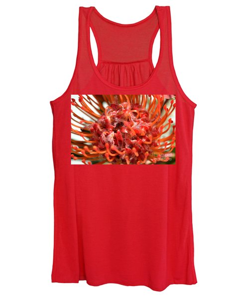 Red Pincushion Close Up Women's Tank Top