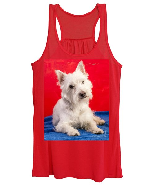 Red White And Blue Westie Women's Tank Top