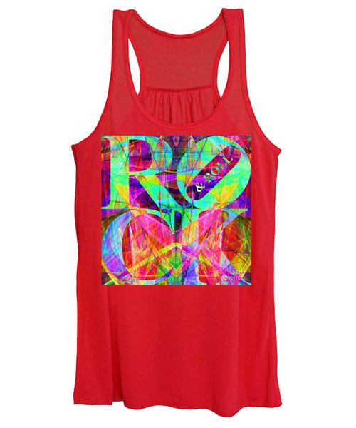 Rock And Roll 20130708 Fractal Women's Tank Top