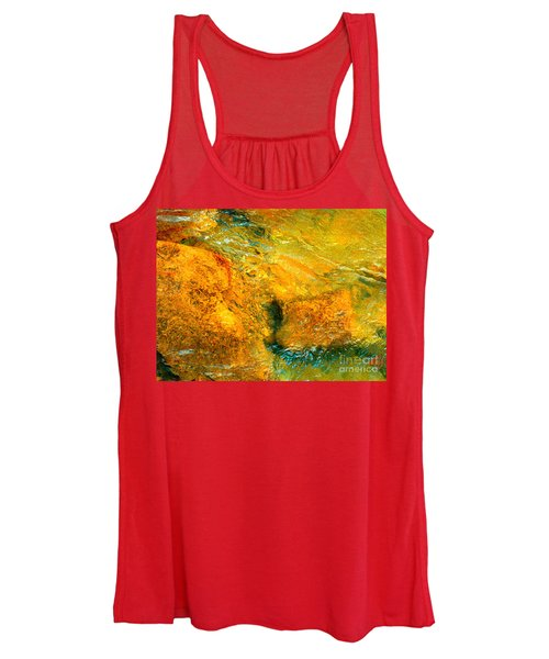 Rocks Under The Stream By Christopher Shellhammer Women's Tank Top