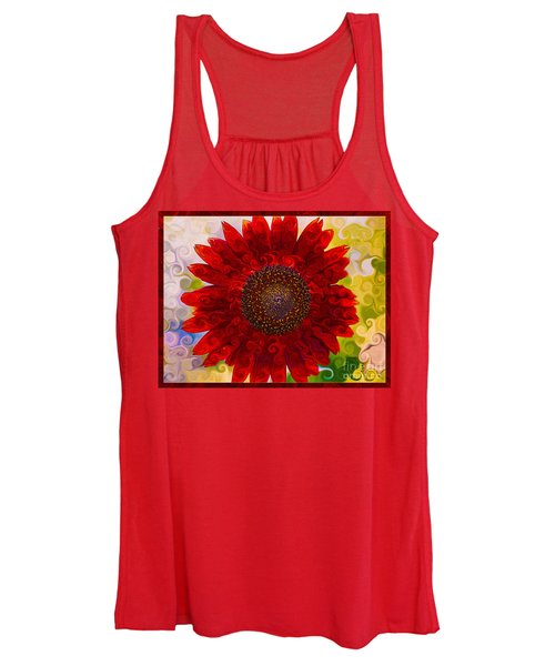 Royal Red Sunflower Women's Tank Top