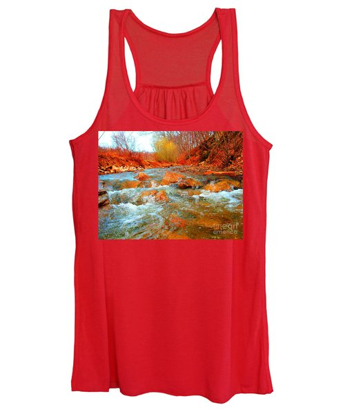 Running Creek 2 By Christopher Shellhammer Women's Tank Top