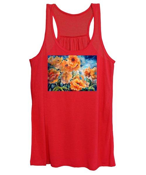 September Orange Poppies            Women's Tank Top