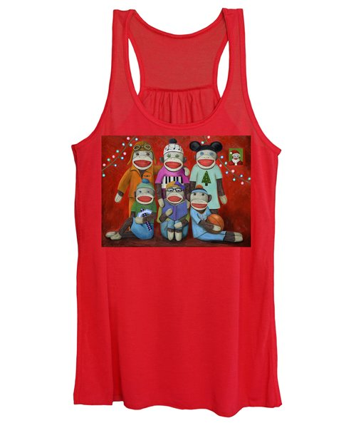 Sock Doll Family Portrait  Women's Tank Top