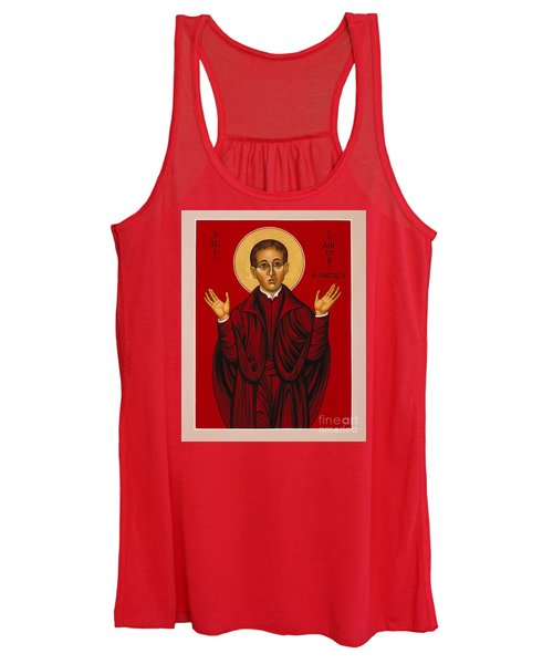St. Aloysius In The Fire Of Prayer 020 Women's Tank Top