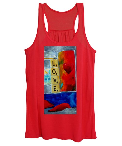 Stained Glass Love Women's Tank Top
