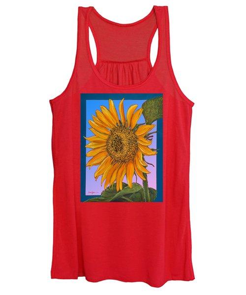 Da154 Sunflower By Daniel Adams Women's Tank Top