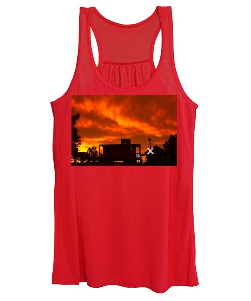 Sunset Caboose Women's Tank Top