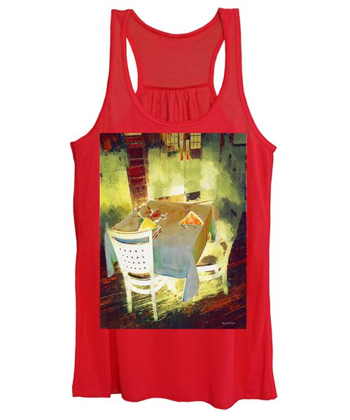Table At The Fauve Cafe Women's Tank Top