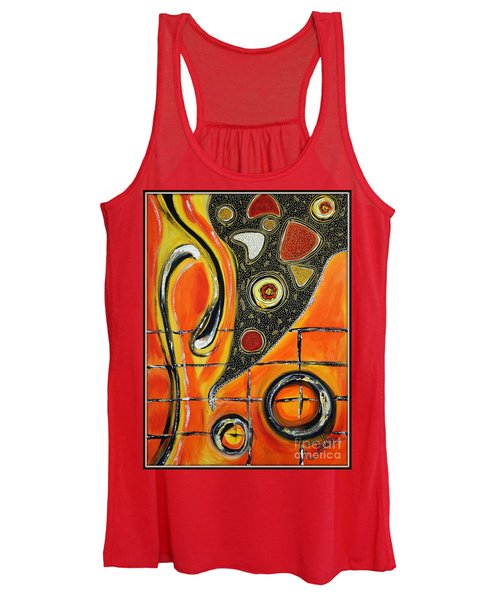The Fires Of Charged Emotions Women's Tank Top