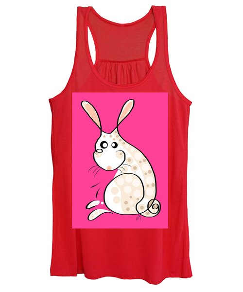 Thoughts And Colors Series Bunny Women's Tank Top