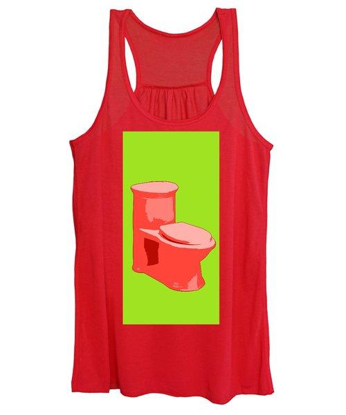 Toilette In Red Women's Tank Top