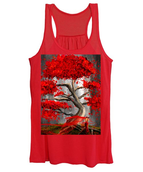 True Love Waits - Red And Gray Art Women's Tank Top