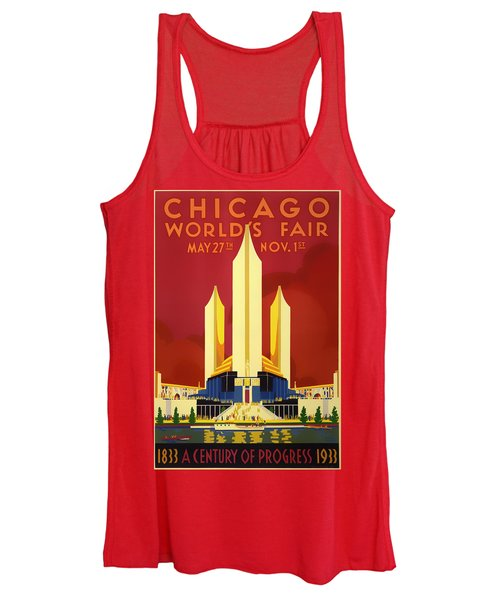 Vintage Travel Poster - Chicago World's Fair 1933 Women's Tank Top