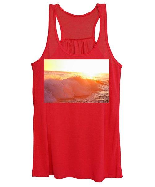 Waves In Sunset Women's Tank Top