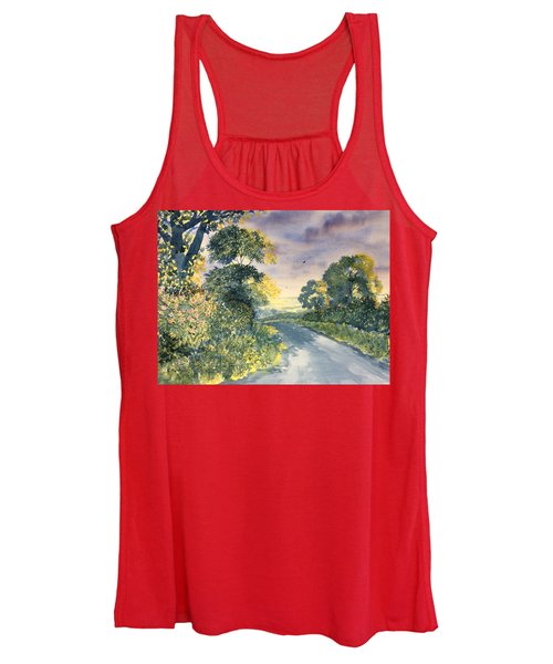 Wild Roses On The Wolds Women's Tank Top