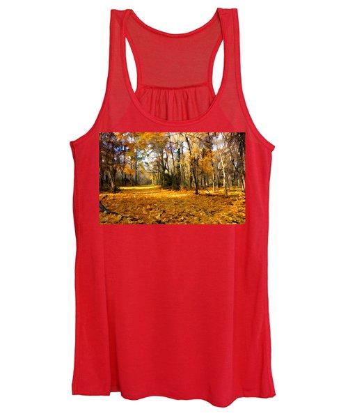 Yellow Leaf Road Women's Tank Top