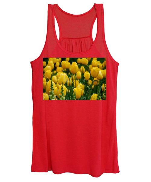 Yellow Tulip Sea Women's Tank Top