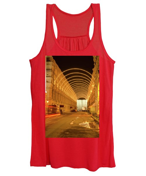 Red Square In Moscow At Night Women's Tank Top