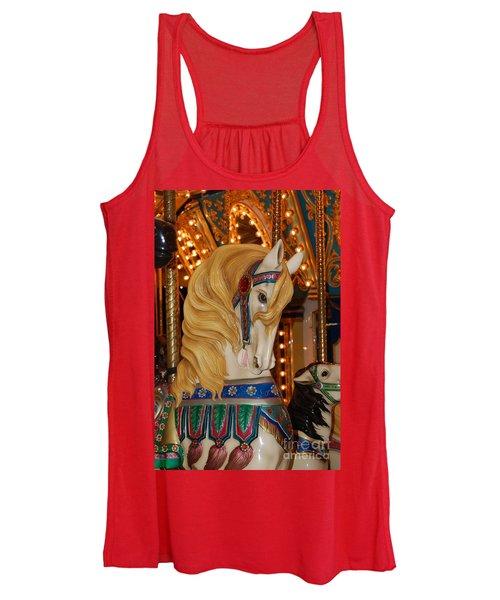 Carousel Horse Golden Mane Women's Tank Top